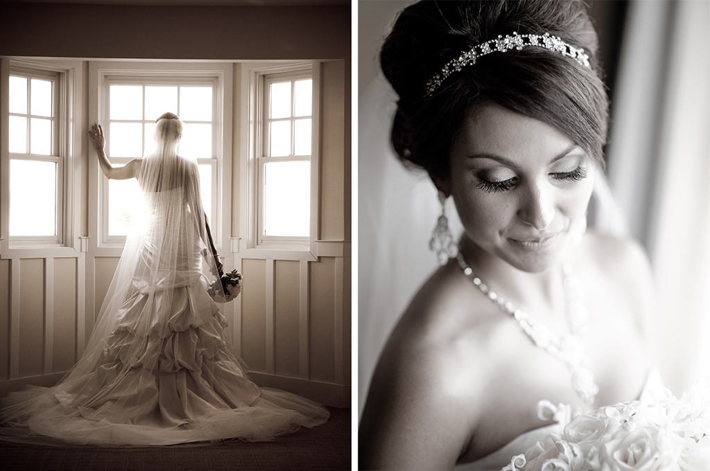 Natural Light Wedding Photography: Hamilton Photography Bride Portrait In Window With Natural