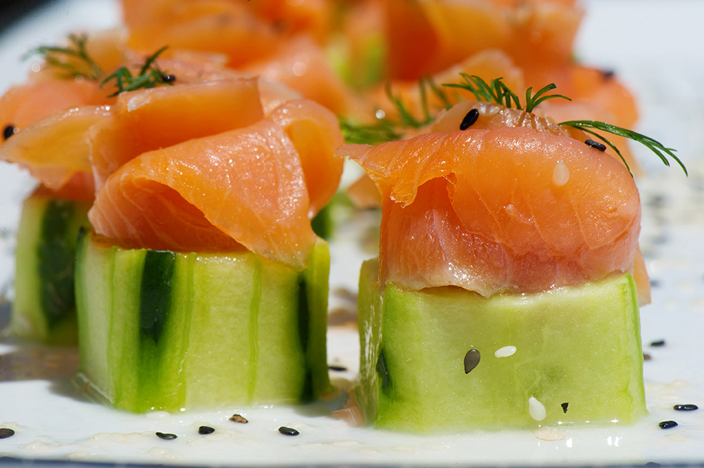 maryland food photographer - salmon and cucumber