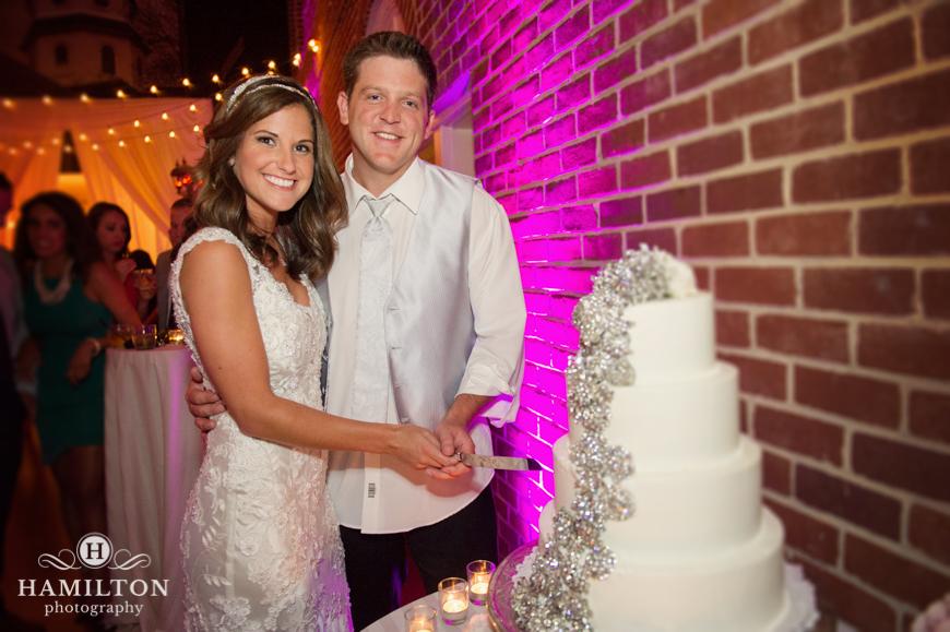 Hamilton Photography Reception Wedding Cake Cutting