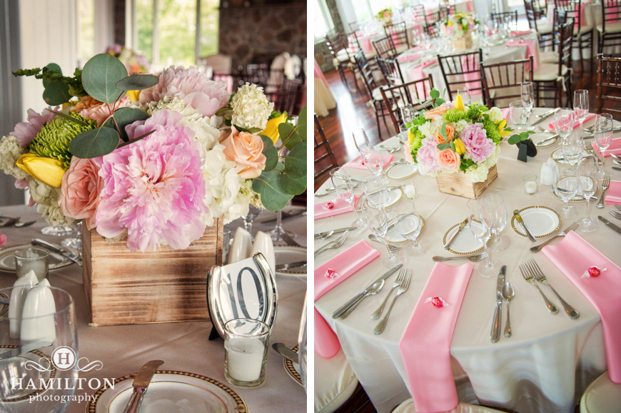 Hamilton Photography Simple Wedding Table Centerpieces