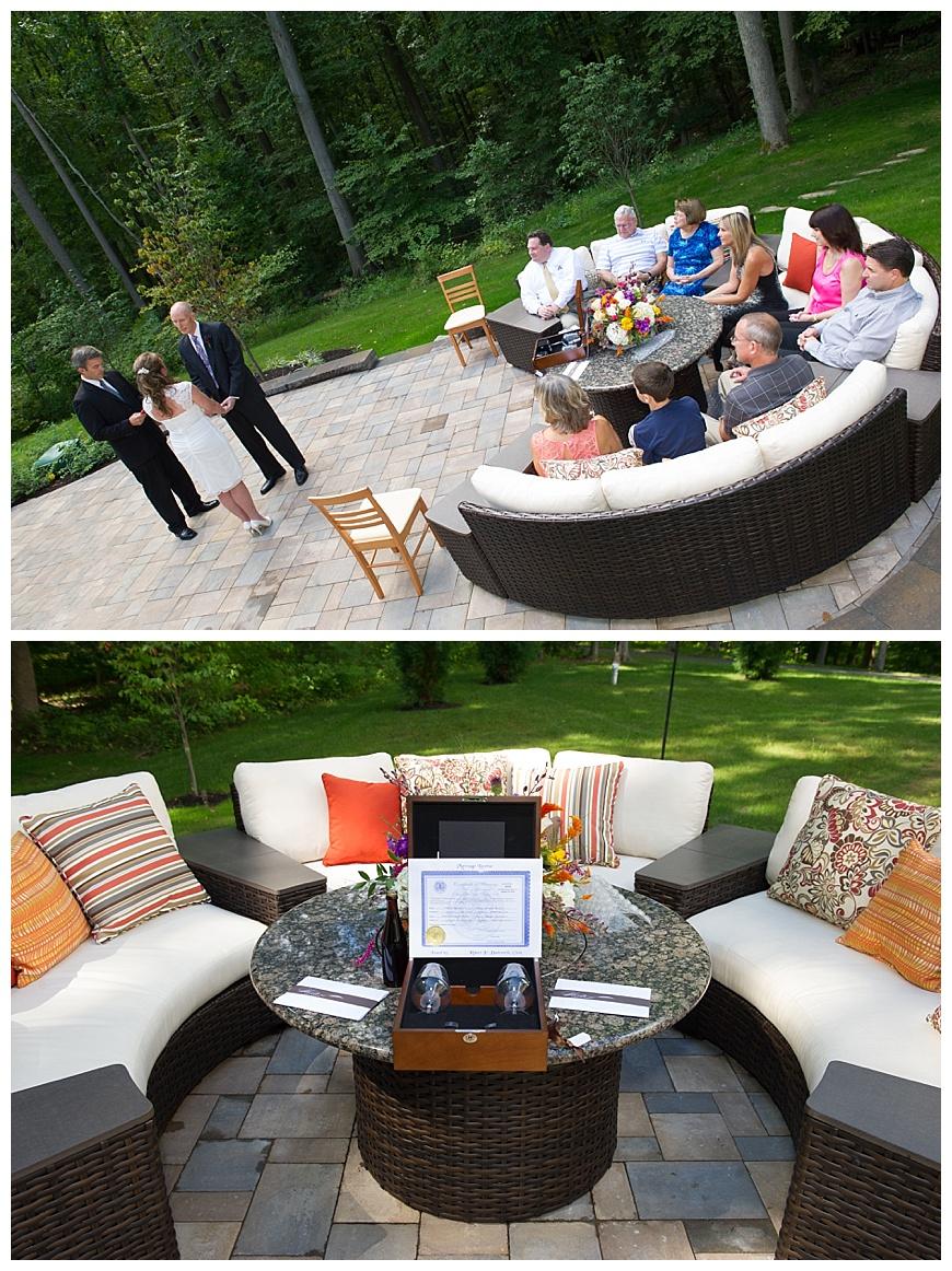 hamilton photography backyard wedding ceremony inspiration