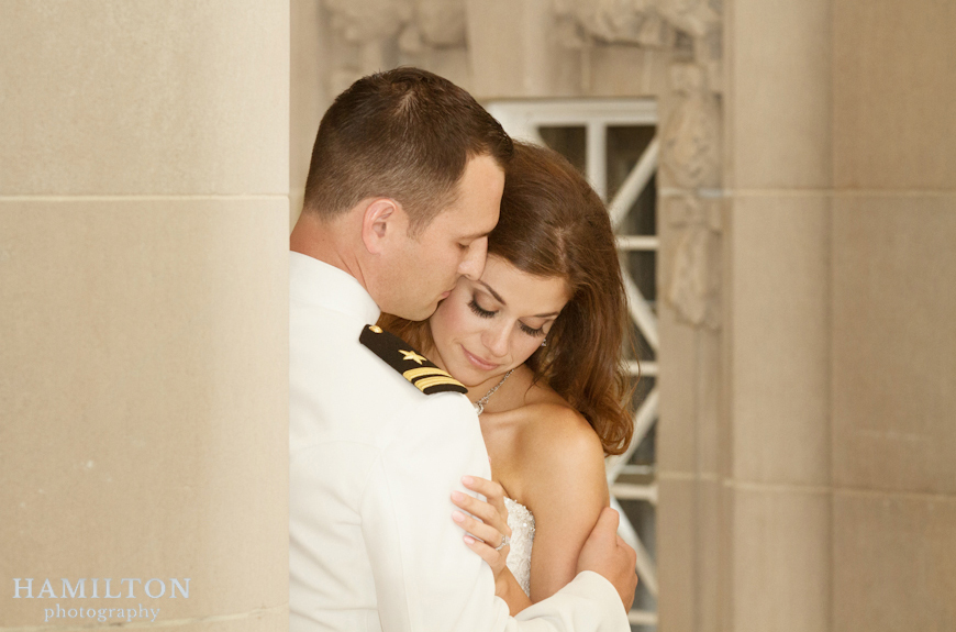 USNA wedding - memorial hall portrait