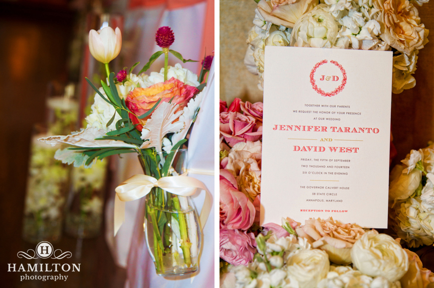 Calvert House Wedding Details