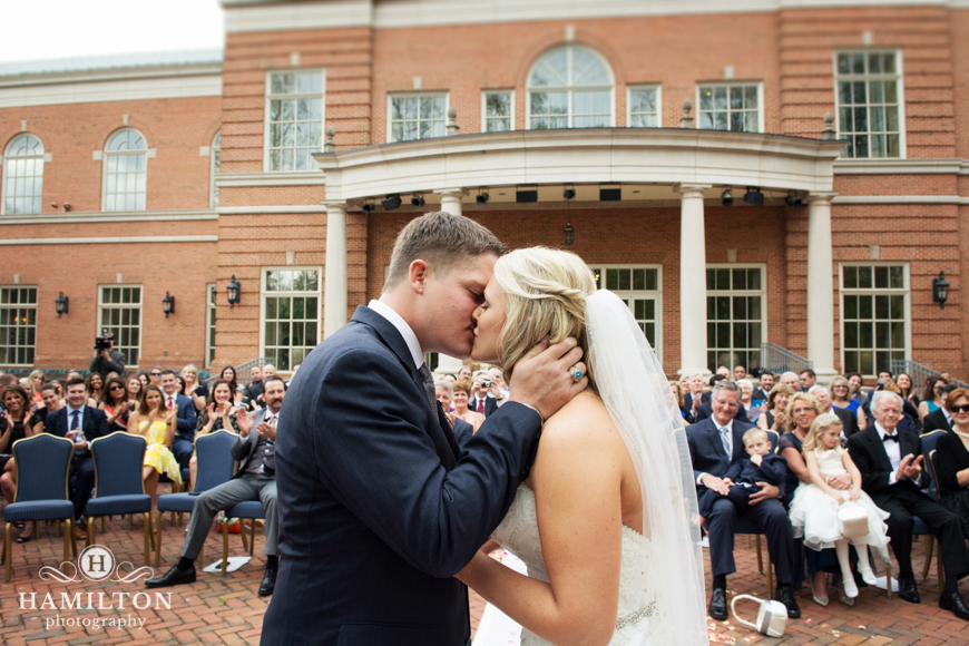 Epic Wedding First Kiss