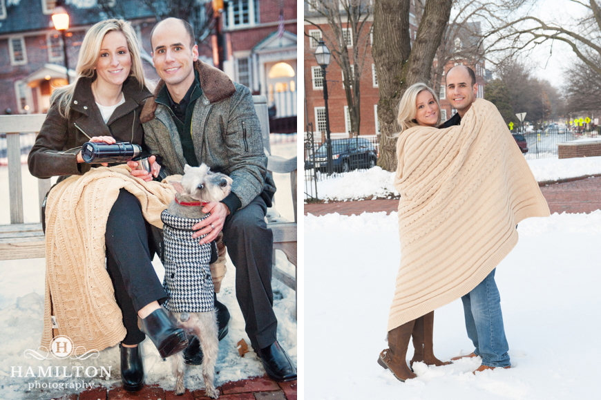 Cute Snowy Engagement Photos