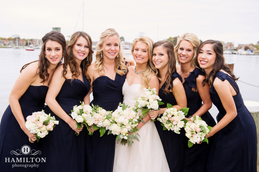Beautiful Bride with Bridesmaids