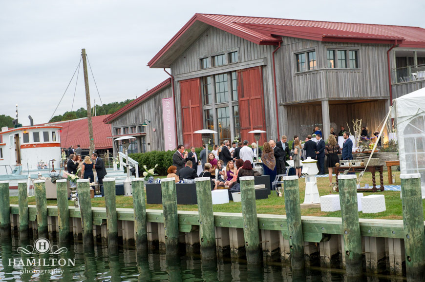 Chesapeake Bay Maritime Museum Outdoor Wedding Reception