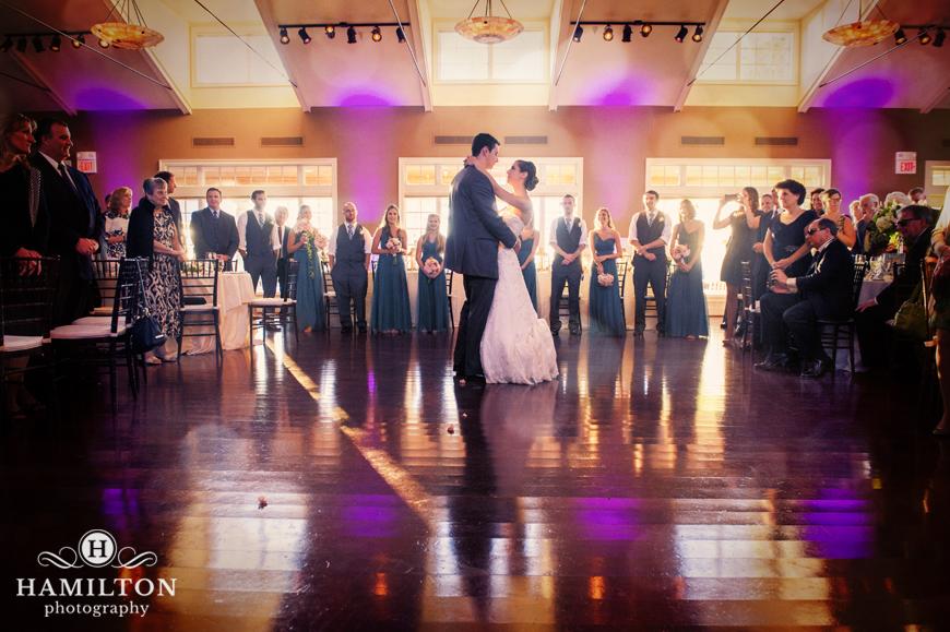 First Dance Wedding Picture At Chesapeake Bay Beach Club