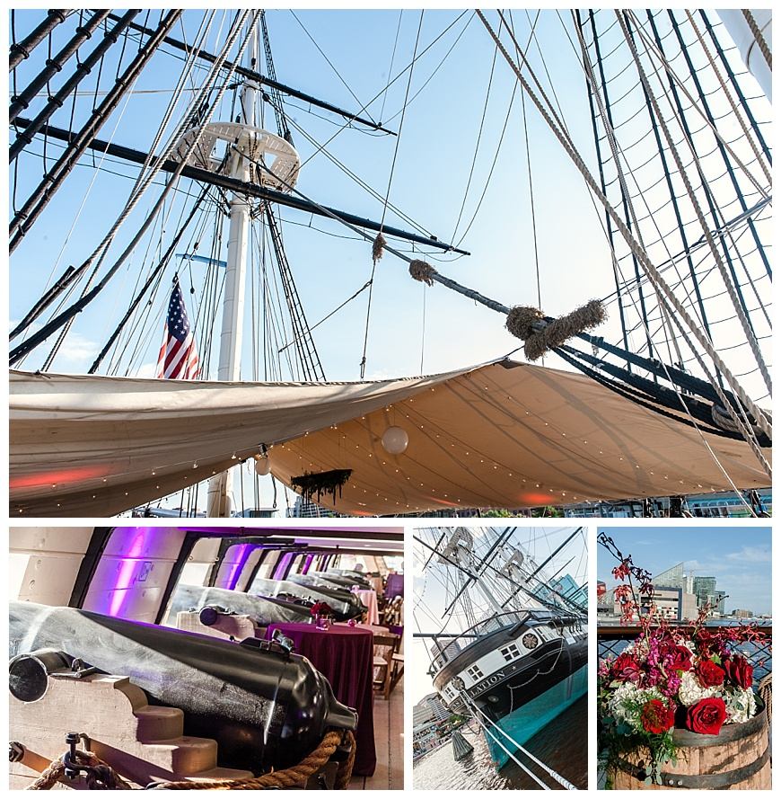 A wedding ceremony and reception on the USS Constellation, Baltimore