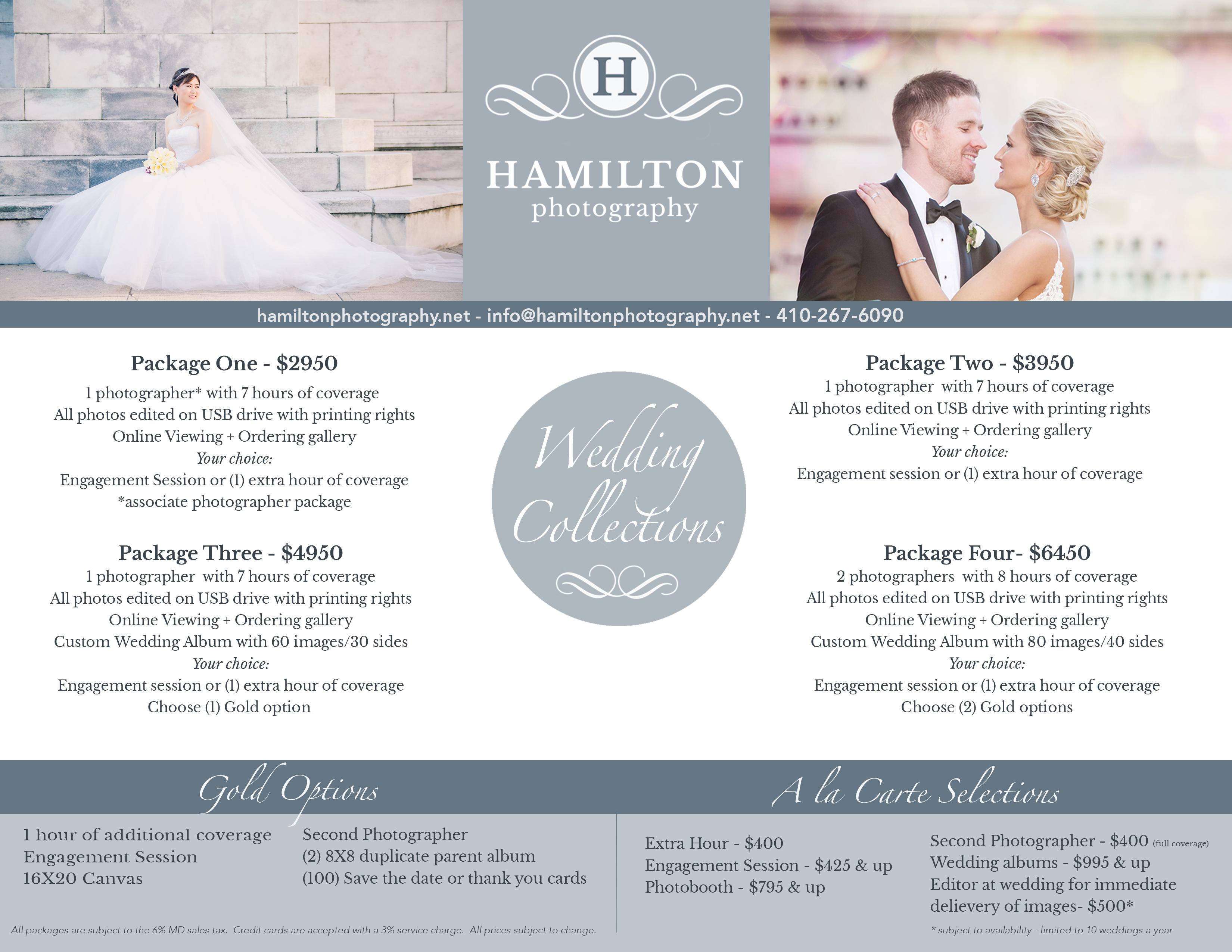 Hamilton Photography 2017 - 2018 Pricing Guide - Hamilton